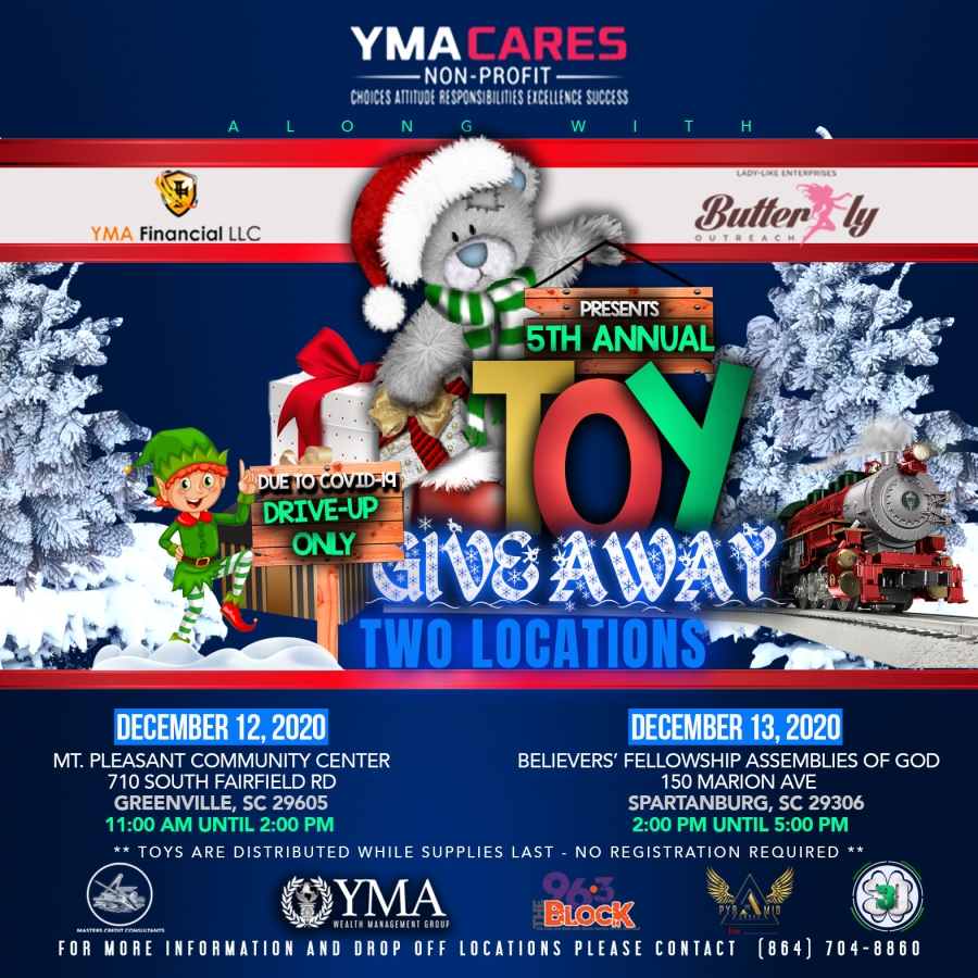 toy drive Spartanburg SC